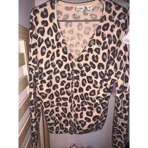 Leopard soft cardigan